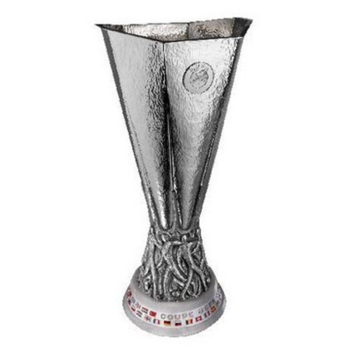 The EUROPA LEAGUE TROPHY AT THE RED BULL ARENA
